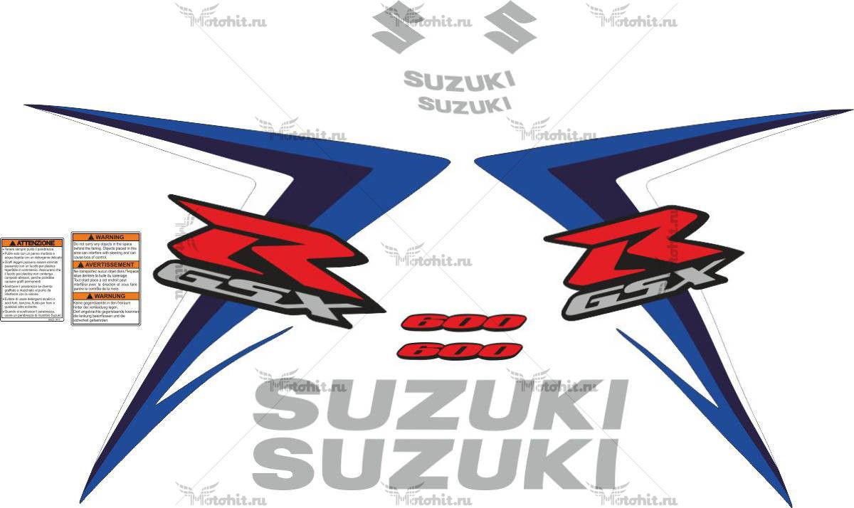 Комплект наклеек SUZUKI GSX-R-600 2007