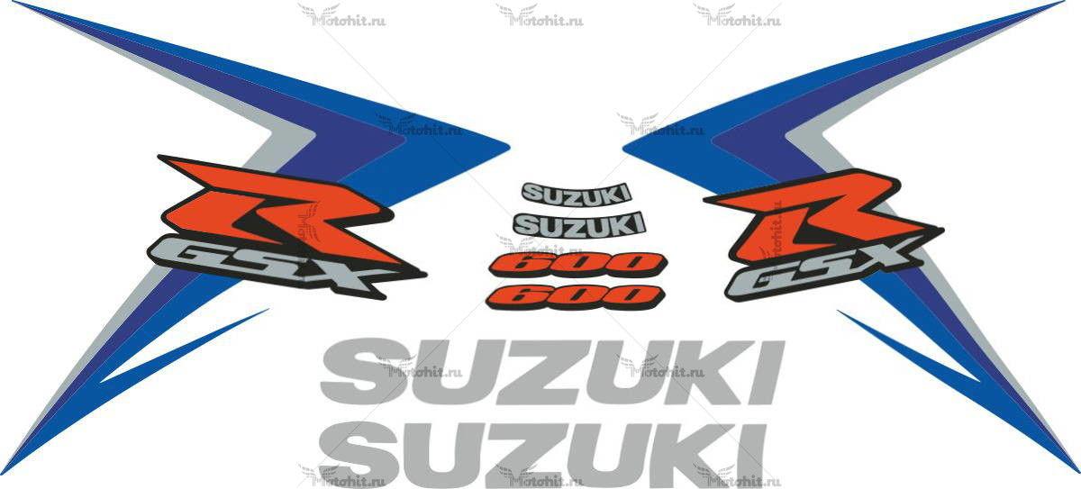 Комплект наклеек SUZUKI GSX-R-600 2007-2