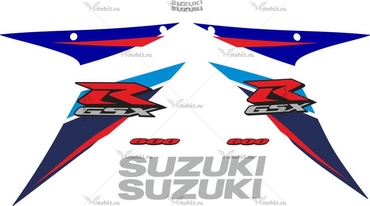 Комплект наклеек SUZUKI GSX-R-600 2007 BLUE-WHITE