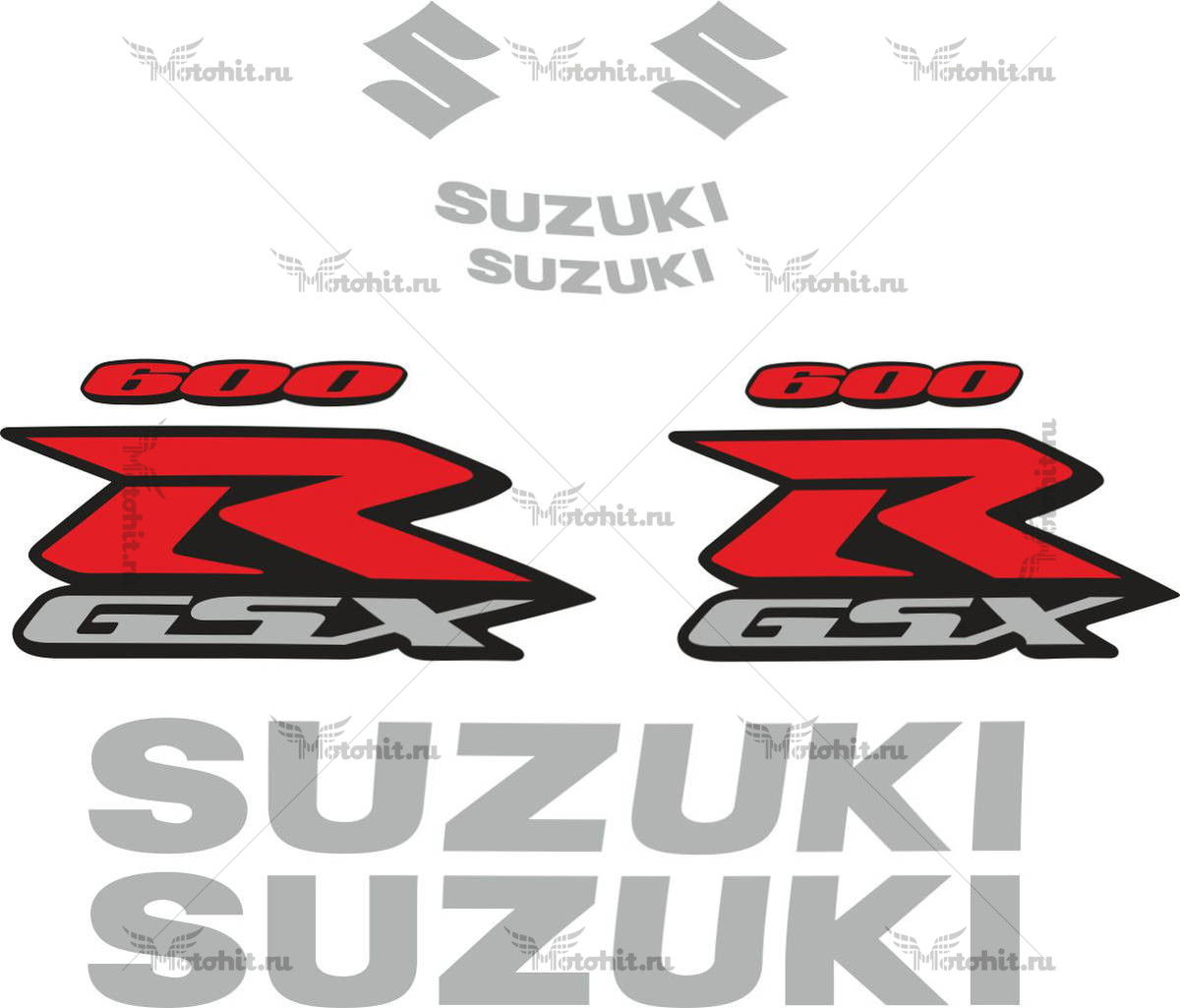 Комплект наклеек SUZUKI GSX-R-600 2007 TXT