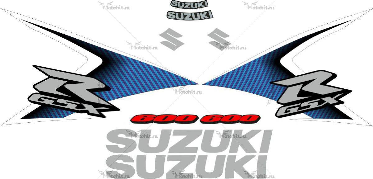 Комплект наклеек SUZUKI GSX-R-600 2008