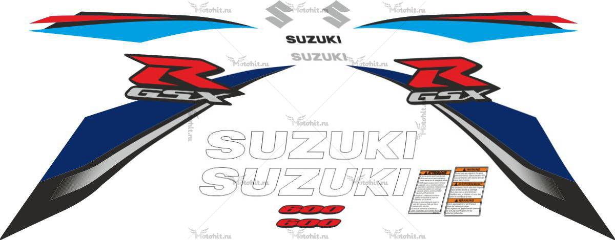 Комплект наклеек SUZUKI GSX-R-600 2008-2010