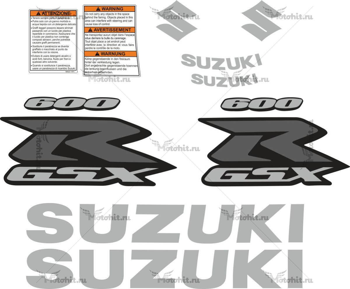 Комплект наклеек SUZUKI GSX-R-600 2008-2010 TXT