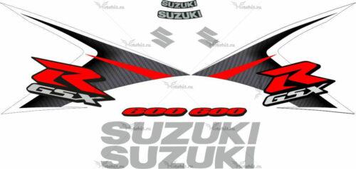 Комплект наклеек SUZUKI GSX-R-600 2008 GRAY