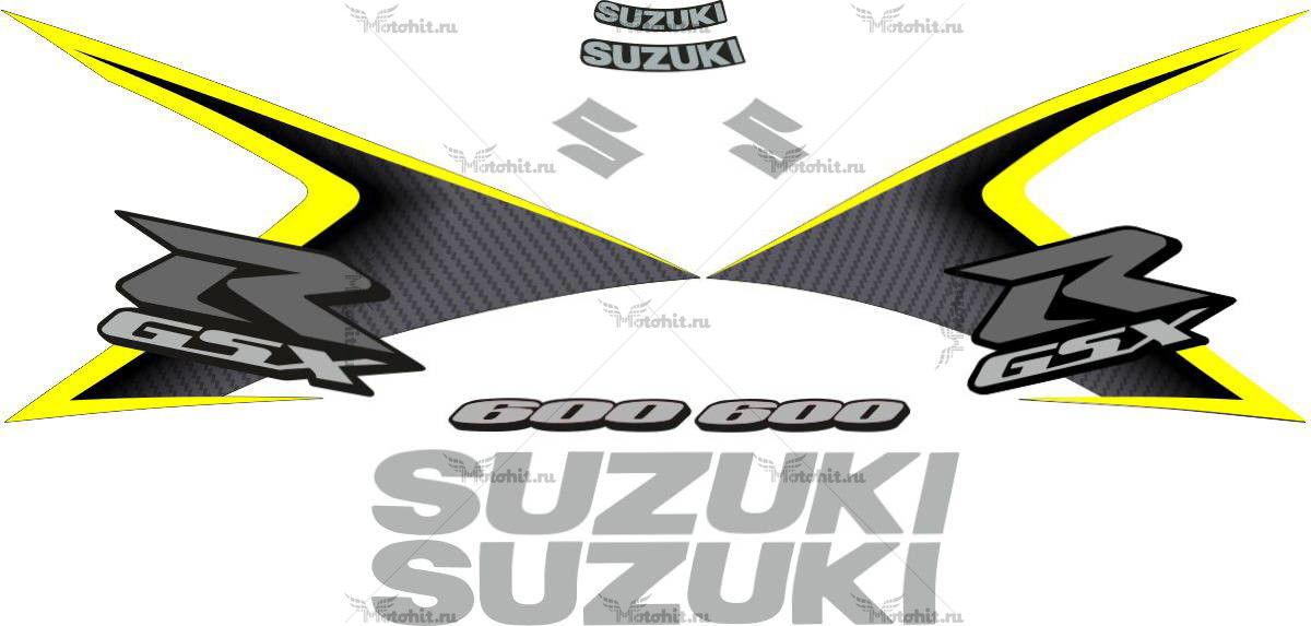 Комплект наклеек SUZUKI GSX-R-600 2008 YELLOW