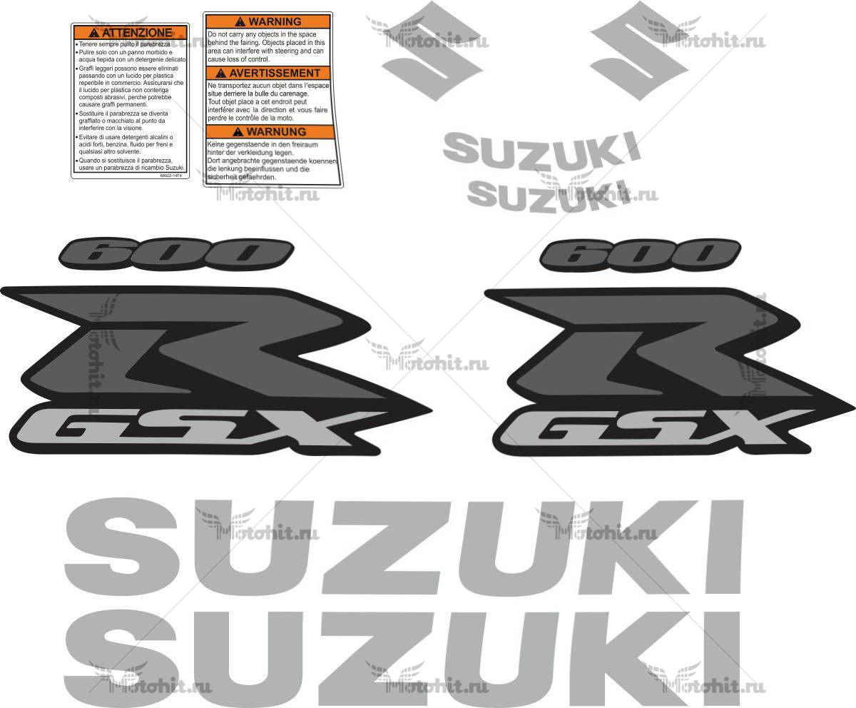 Комплект наклеек SUZUKI GSX-R-600 2009 TXT
