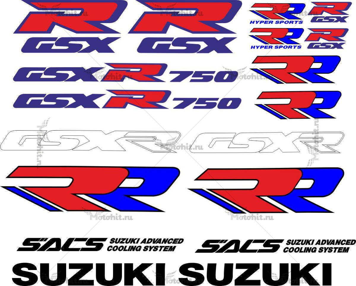 Комплект наклеек SUZUKI GSX-R-750 1989 LOGO-KIT