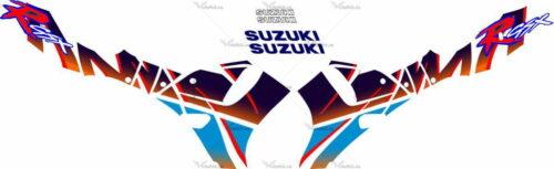 Комплект наклеек SUZUKI GSX-R-750 1992 PINK-R