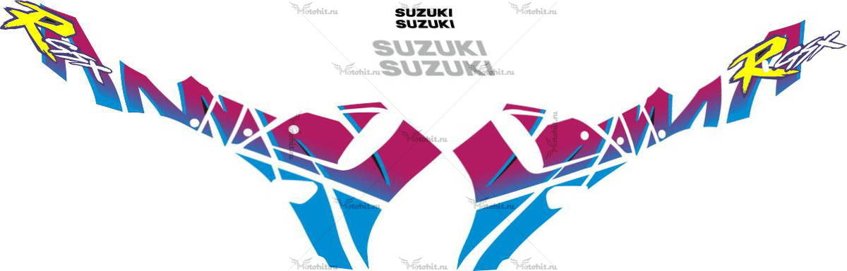 Комплект наклеек SUZUKI GSX-R-750 1992 YELLOW-R