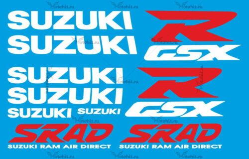 Комплект наклеек SUZUKI GSX-R-750 1997 SRAD