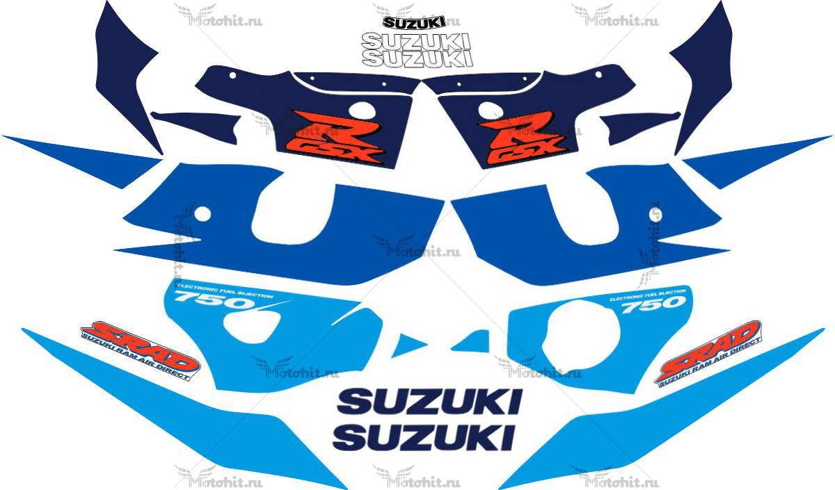 Комплект наклеек SUZUKI GSX-R-750 1998-1999