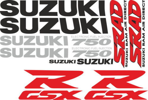 Комплект наклеек SUZUKI GSX-R-750 1998 SRAD-TXT