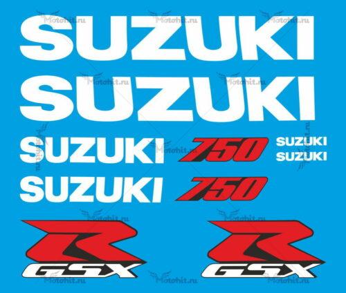 Комплект наклеек SUZUKI GSX-R-750 2001-2002