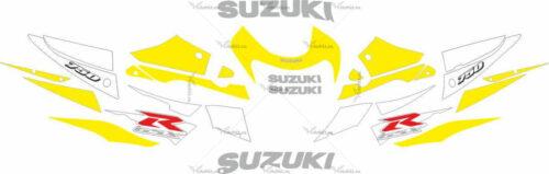 Комплект наклеек SUZUKI GSX-R-750 2001 YELLOW