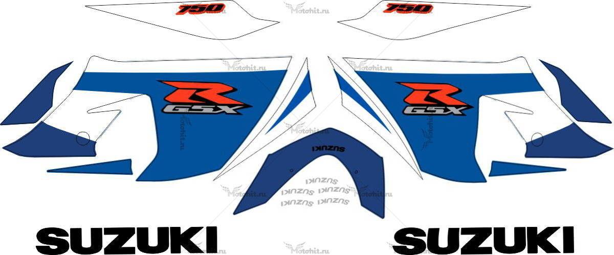 Комплект наклеек SUZUKI GSX-R-750 2005