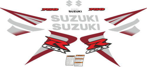 Комплект наклеек SUZUKI GSX-R-750 2006-2007