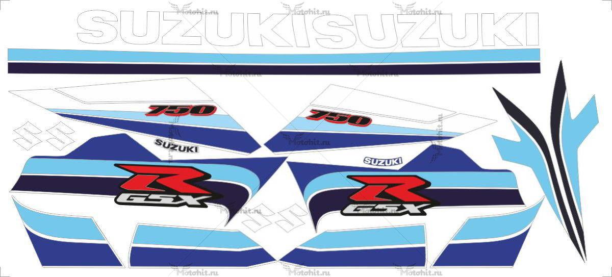 Комплект наклеек SUZUKI GSX-R-750 2007 DRUK