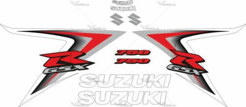 Комплект наклеек SUZUKI GSX-R-750 2008