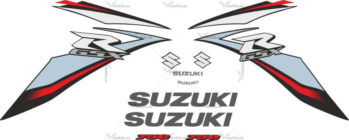 Комплект наклеек SUZUKI GSX-R-750 2009