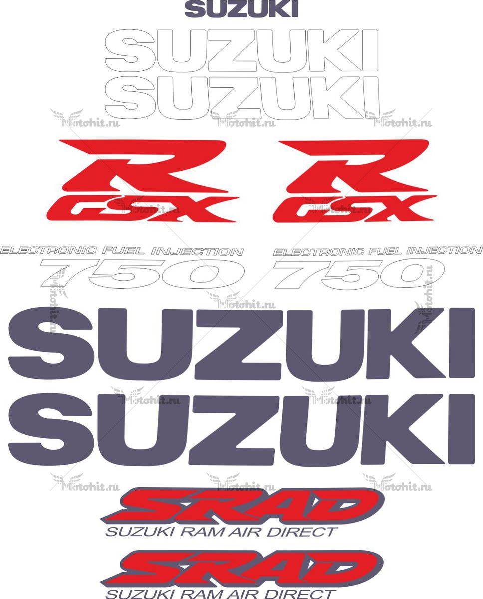 Комплект наклеек SUZUKI GSX-R-750 SRAD