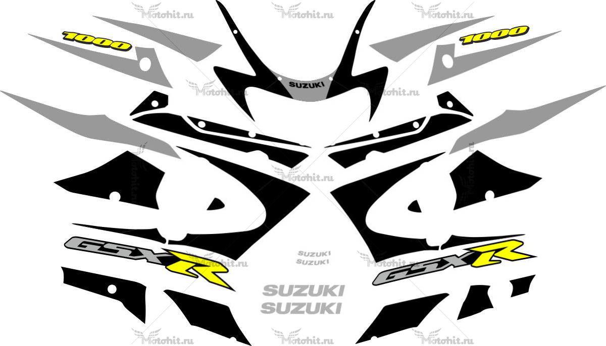 Комплект наклеек SUZUKI GSX-R-1000 2000-2002