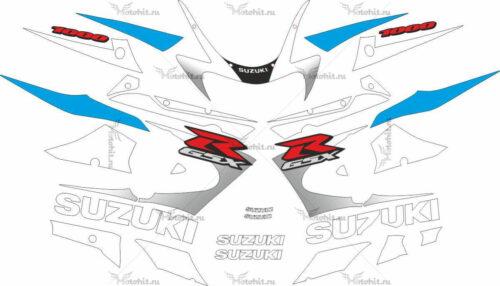 Комплект наклеек SUZUKI GSX-R-1000 2000-2002-WHITE