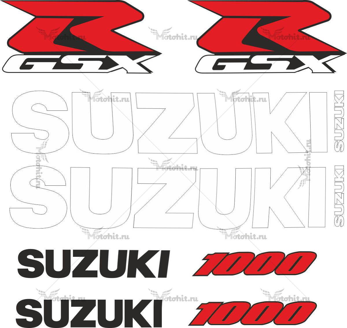 Комплект наклеек SUZUKI GSX-R-1000 2001-2002