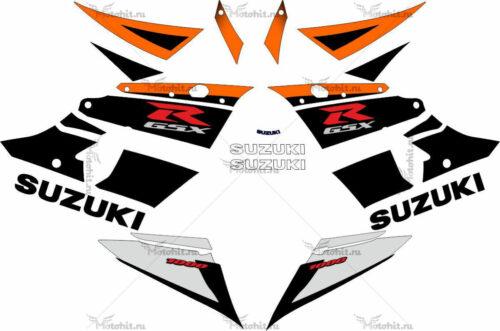 Комплект наклеек SUZUKI GSX-R-1000 2003-2004 BLACK-ORANGE