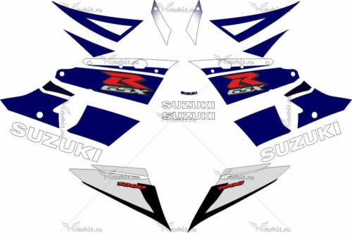 Комплект наклеек SUZUKI GSX-R-1000 2003-2004 BLUE