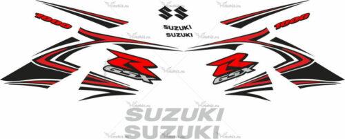 Комплект наклеек SUZUKI GSX-R-1000 2007-2008 BLACK-ORANGE