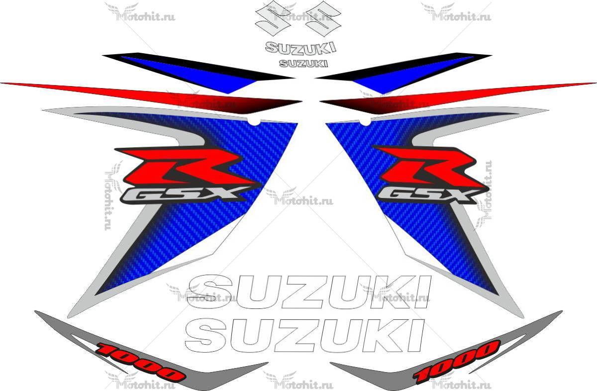 Комплект наклеек SUZUKI GSX-R-1000 2008 BLUE
