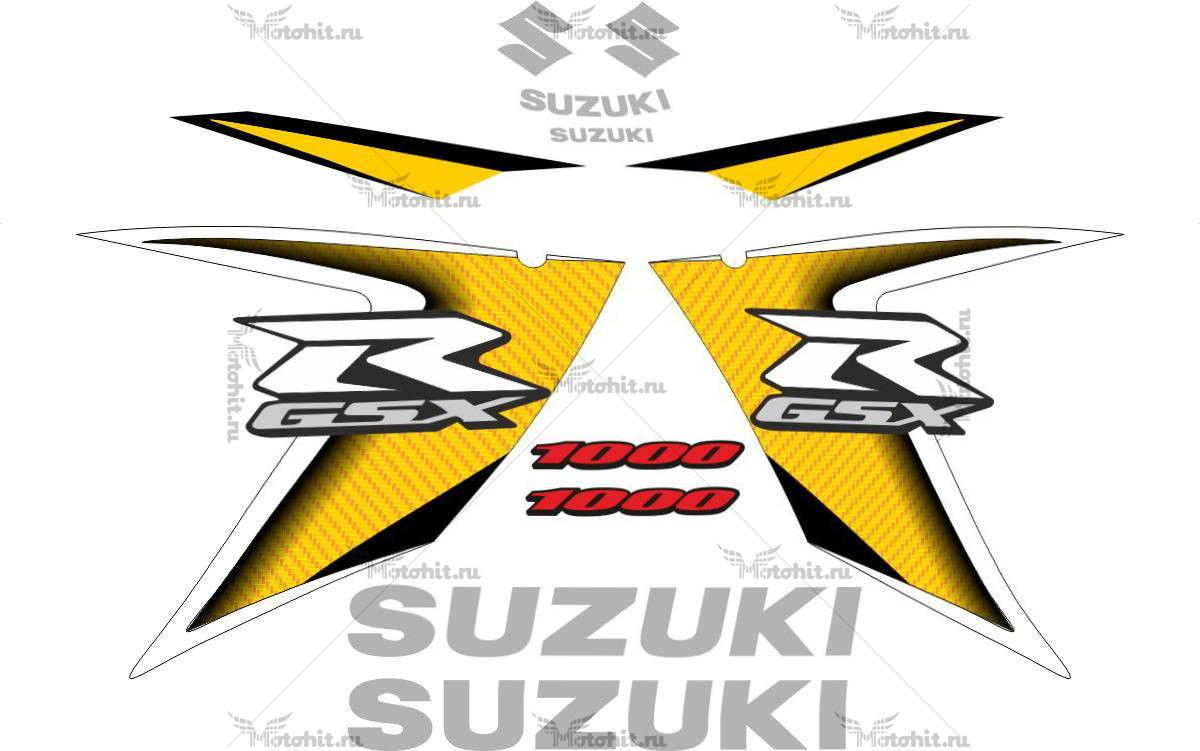 Комплект наклеек SUZUKI GSX-R-1000 2008 YELLOW