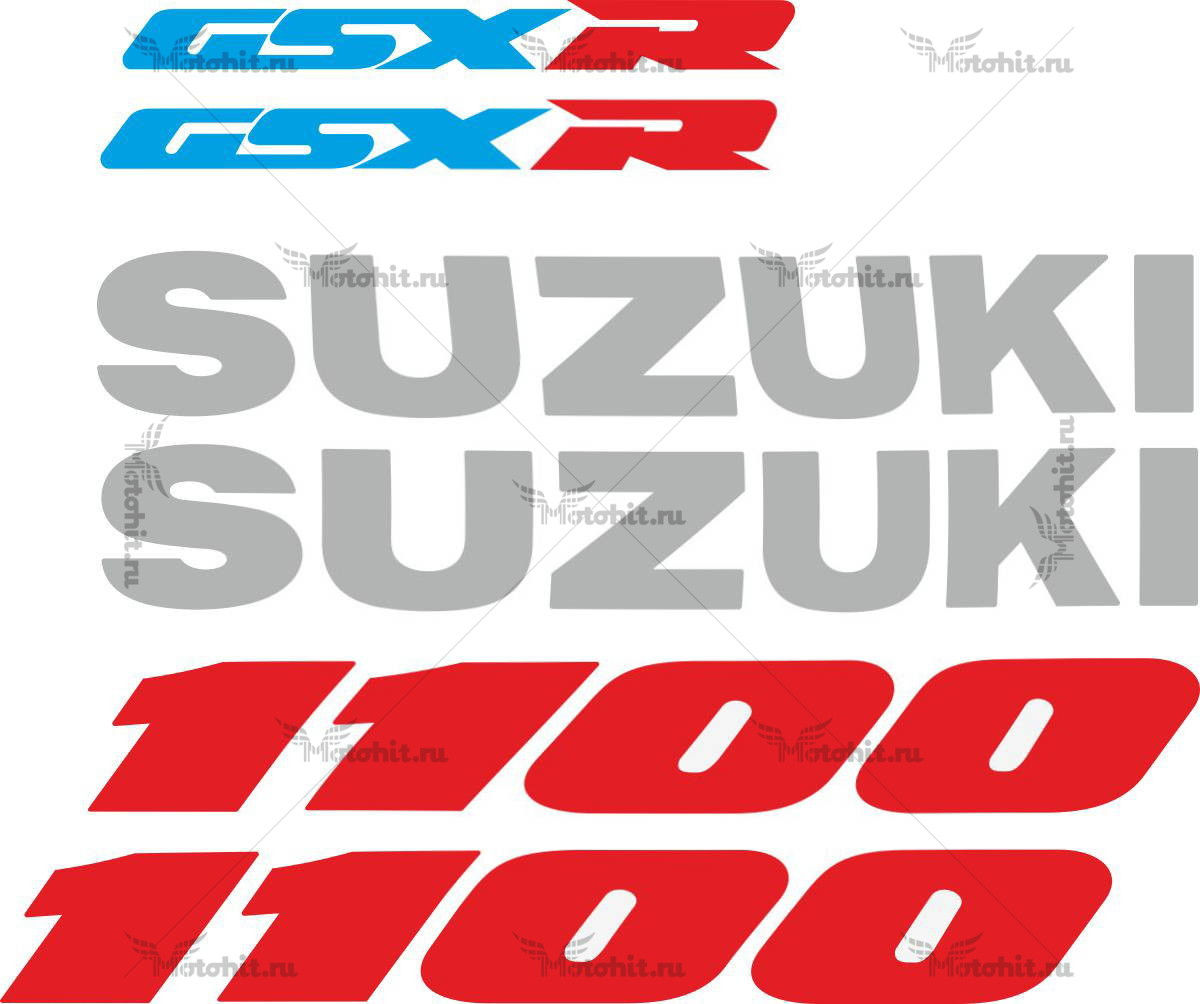 Комплект наклеек SUZUKI GSX-R-1100