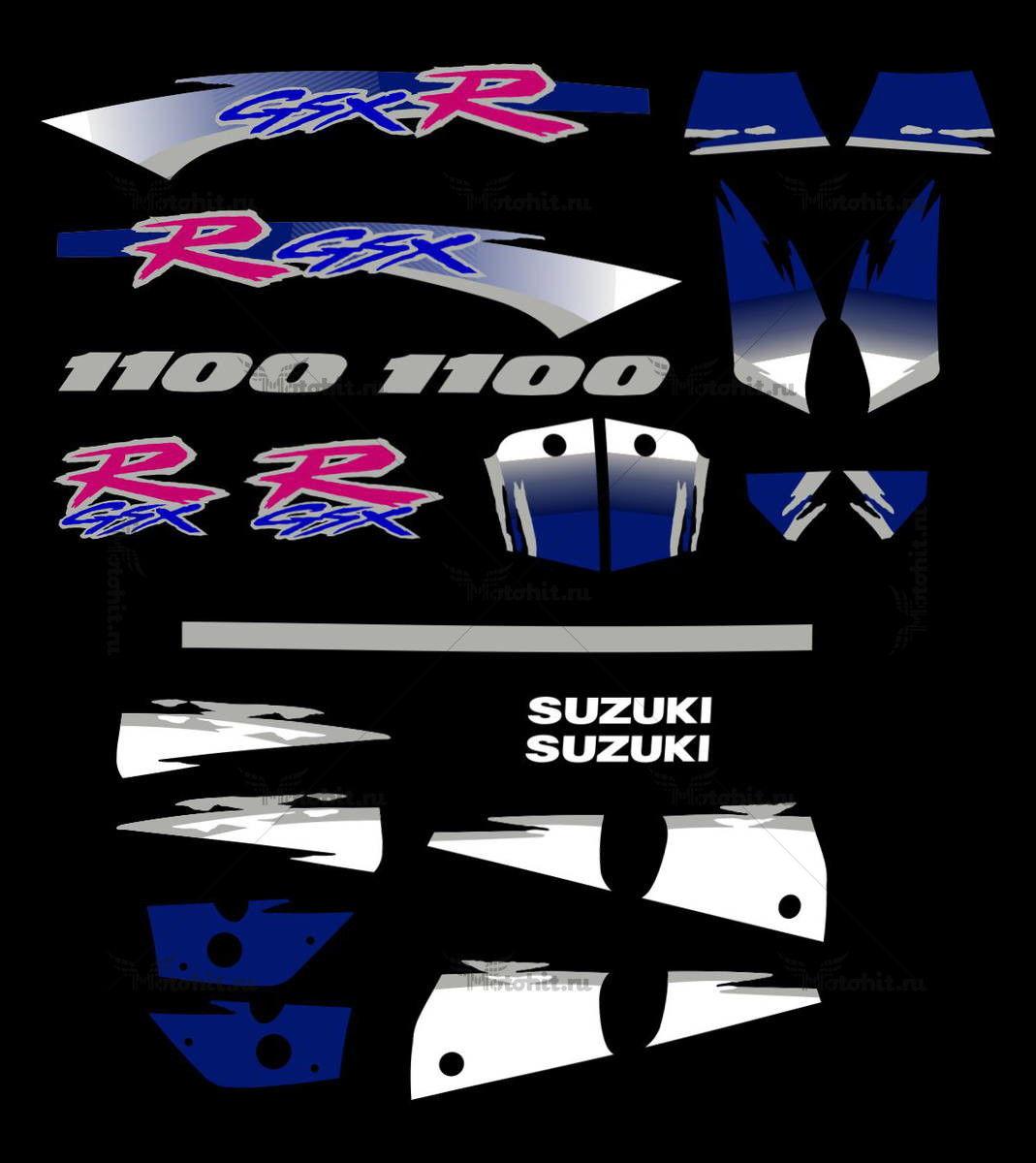 Комплект наклеек SUZUKI GSX-R-1100 KIT