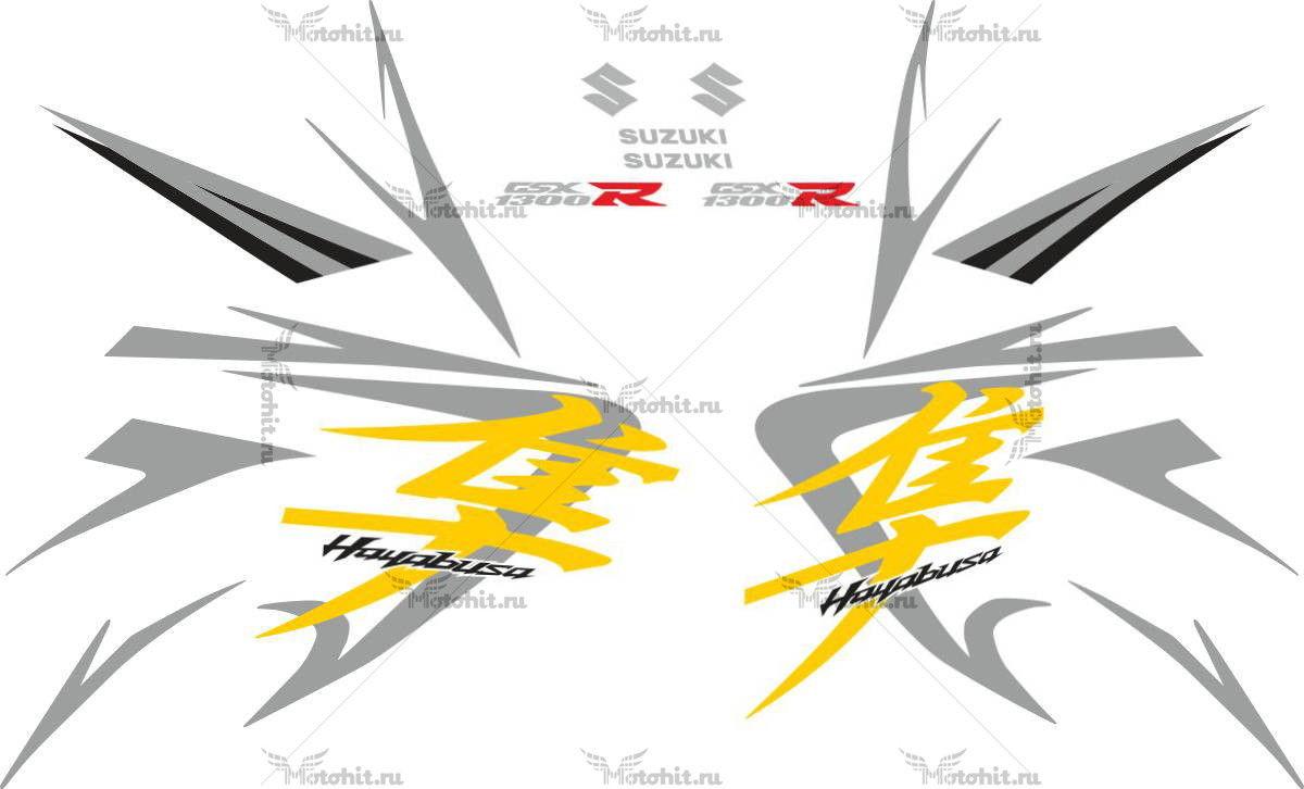 Комплект наклеек SUZUKI GSX-R-1300 HAYABUSA 2008-2009 FOR-BLACK