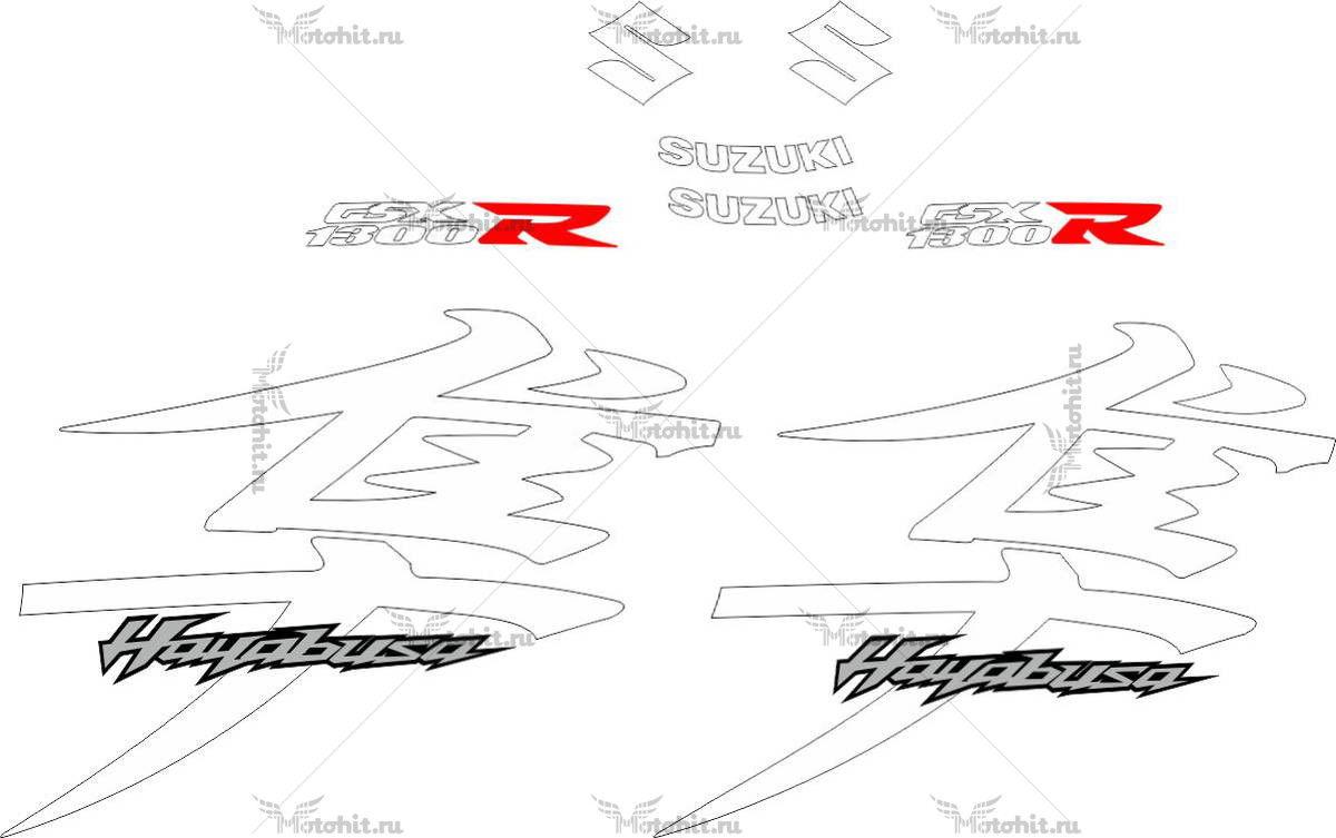 Комплект наклеек SUZUKI GSX-R-1300 HAYABUSA 2012 WHITE