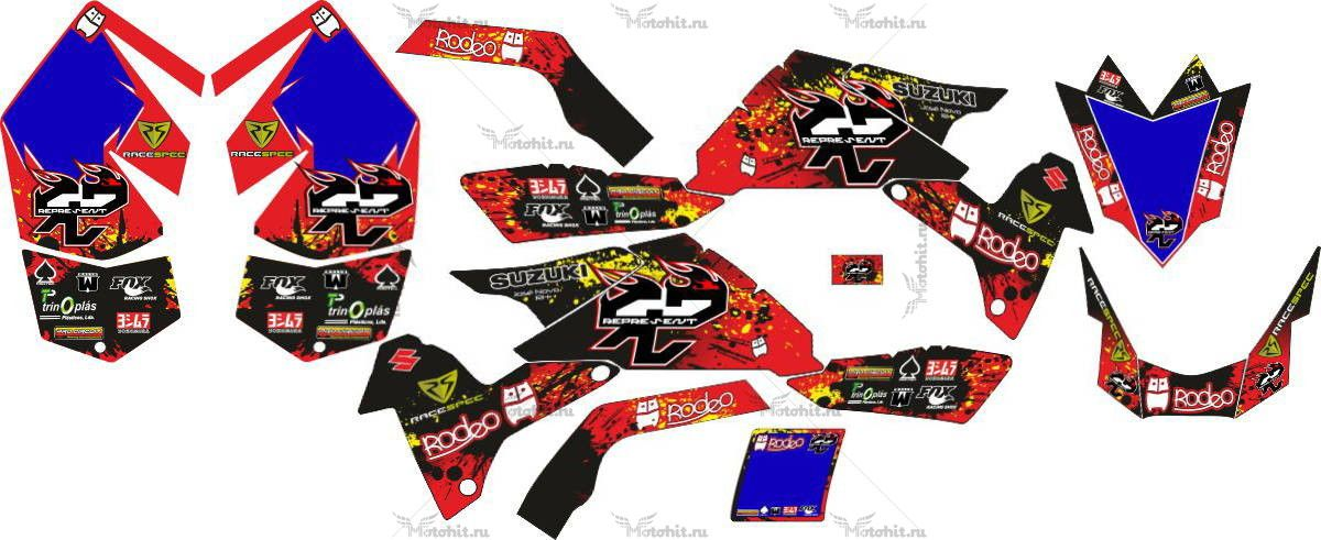 Комплект наклеек SUZUKI LTR-450 2012