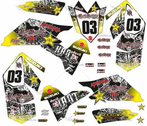 Комплект наклеек SUZUKI LTR-450 HART-HUNTINGTON-YELLOW