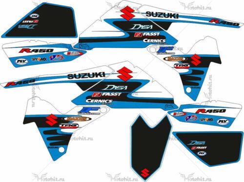 Комплект наклеек SUZUKI LTR-450 KIT-BLUE-BLACK