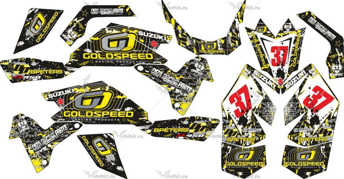 Комплект наклеек SUZUKI LTR-450 R-GOLDSPEED