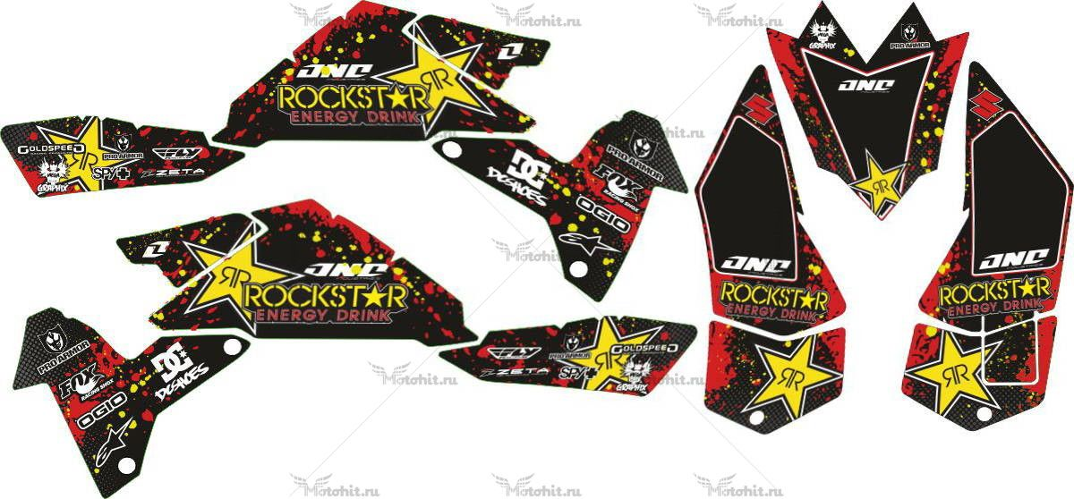 Комплект наклеек SUZUKI LTR-450 ROCKSTAR