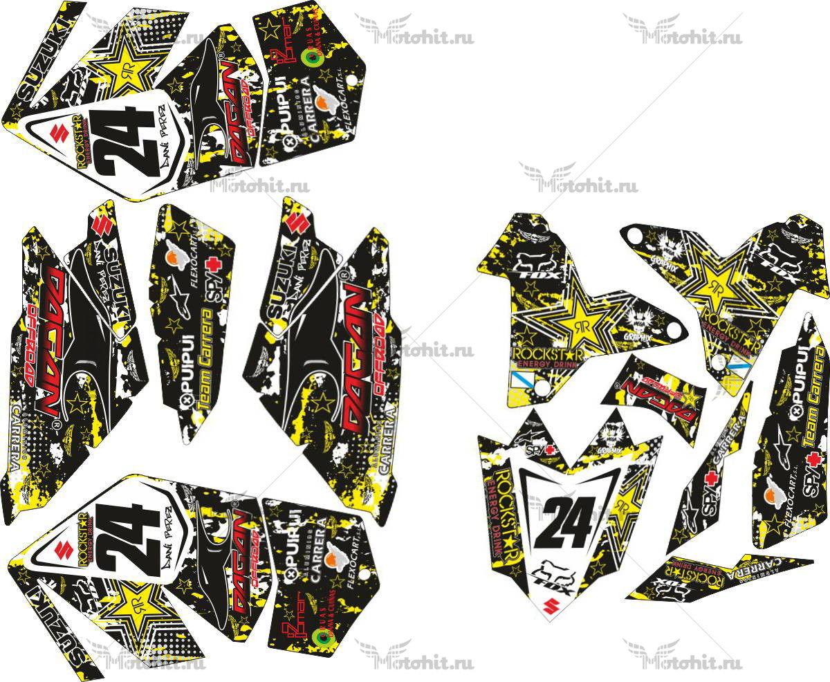 Комплект наклеек SUZUKI LTR-450 ROCKSTAR-FOX