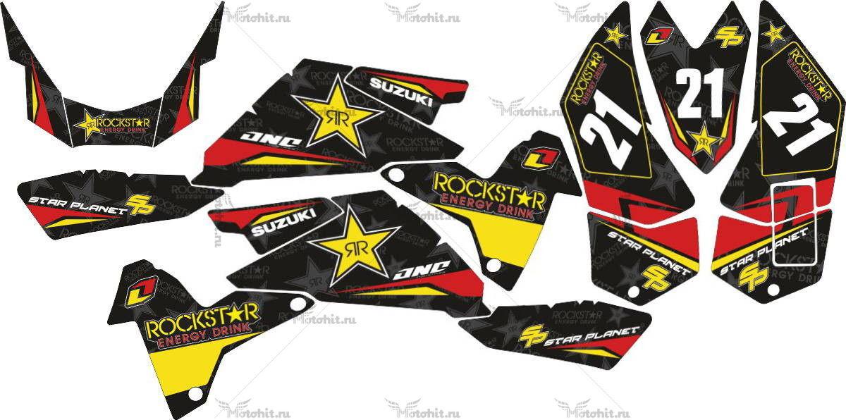 Комплект наклеек SUZUKI LTR-450 ROCKSTAR-RED-BLACK