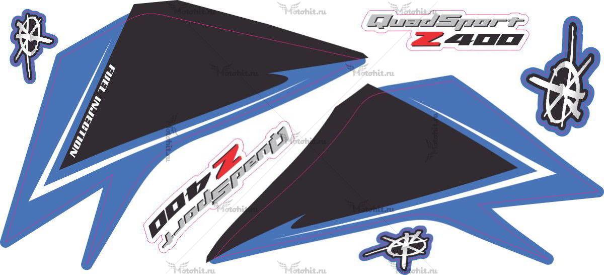 Комплект наклеек SUZUKI LTZ-450