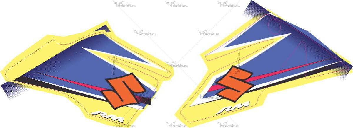 Комплект наклеек  SUZUKI RM-85 2009