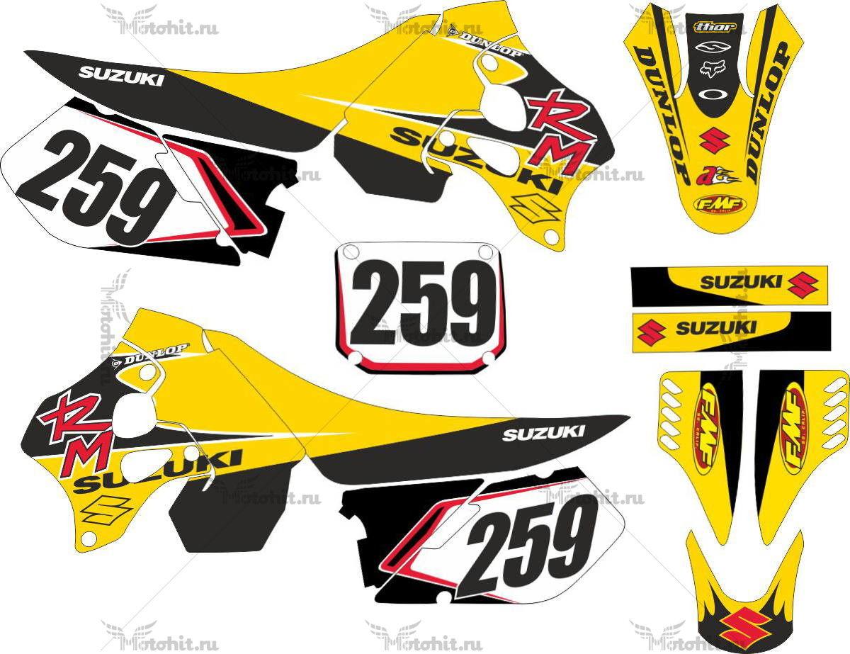 Комплект наклеек SUZUKI RM-250 1997-1998 PADRAO