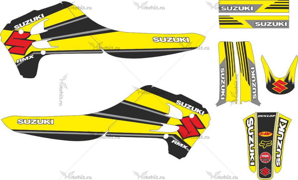 Комплект наклеек SUZUKI RMX-125 1993-1995 CINZA