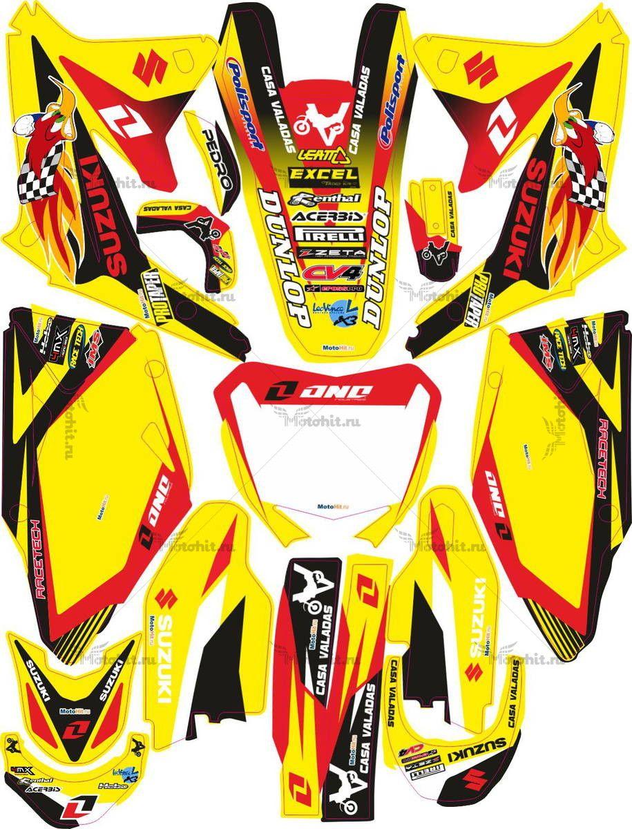 Комплект наклеек SUZUKI RMZ-125 RMZ-250-450 WOODY