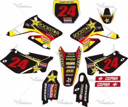 Комплект наклеек SUZUKI RMZ-125 RMZ-250 2004-2006 ROCKSTAR