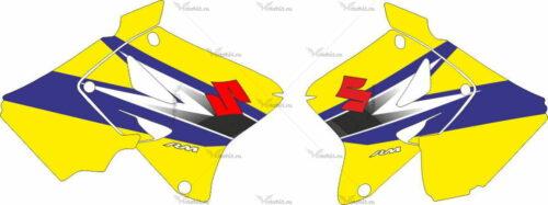 Комплект наклеек SUZUKI RMZ-125 RMZ-250 2007-2008 SIDES